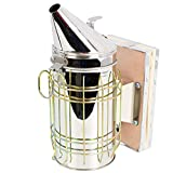 VIVO Large Stainless Steel Bee Hive Smoker with Heat Shield, Beekeeping Equipment (BEE-V001L)