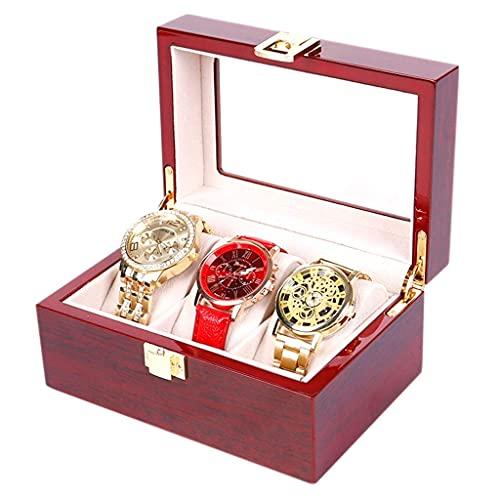 ROSG Storage Box - Wooden Paint Jewelry Box Watch Box Simple Watch Storage Box Can Lock the Watch Box