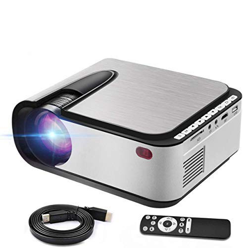 "Mini Video Projector, HD 1080 LED Projectors 3600 Lumens Home TV Theater Movie Projector 140"" Supported, Compatible with TV Stick, HDMI, VGA, USB, Laptop, iOS Android for PowerPoint Presentation"