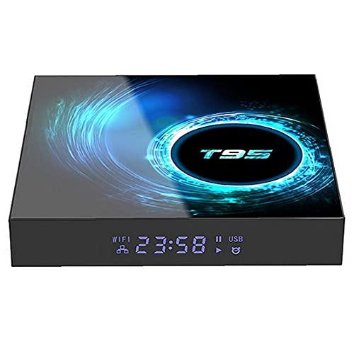 Sanfiyya Smart TV Box T95 2,4 g WiFi Set Top Box 4 GB 32 GB Bluetooth 5.0 múltiples Idiomas para Android TV Accesorios