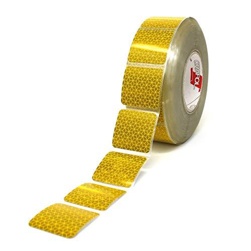 Orafol Reflexite VC 104 Curtain Grade Segmentiert Konturmarkierung Reflexband (Gelb, 10 Meter (4,90 € / Meter))