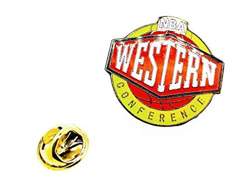 Gemelolandia | Pin de solapa NBA Western Conference 27x25mm | Pines Originales Para Regalar | Para las Camisas, la Ropa o para tu Mochila | Detalles Divertidos