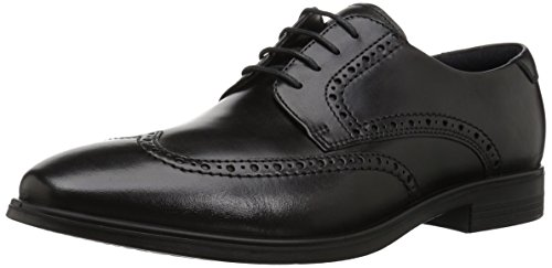 ECCO Melbourne, Zapatos Cordones Brogue Hombre, Negro