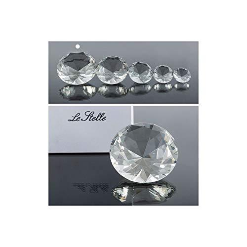 Super oferta 4 unidades diamante cristal de 10 cm en caja regalo bombonera