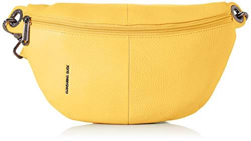 Mandarina Duck Damen Mellow Leather Bum Bag Kuriertasche, Gelb (Starfruit), 10x16x30 Centimeters (W x H x L)