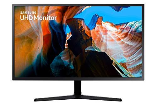 Samsung U32J592UQU (32 Zoll) Monitor (HDMI, 4ms (G/G), UHD, DP, 3,5 mm Kopfhörer, 3,840 x 2,160 Pixel 270 cd/m²) dunkelblaugrau