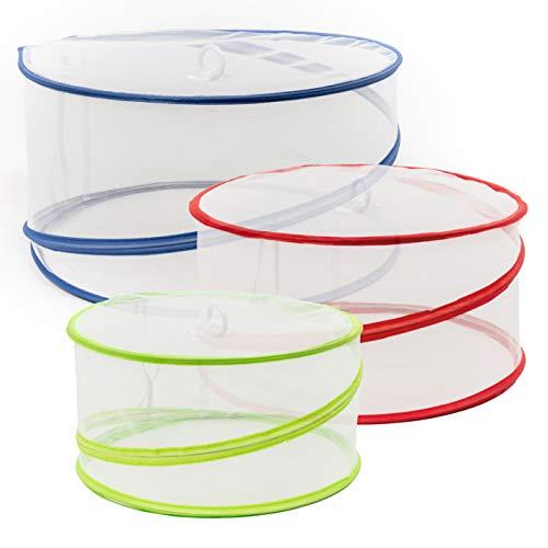 Bramble - 5 Stück Pop Up Fliegenschutz Abdeckhaube für Lebensmittel