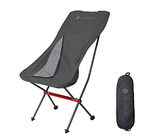 Campsnail アウトドア チェア キャンプ 椅子 イス 折りたたみ 耐荷重150kg 超軽量 ローチェア ハイバック ...