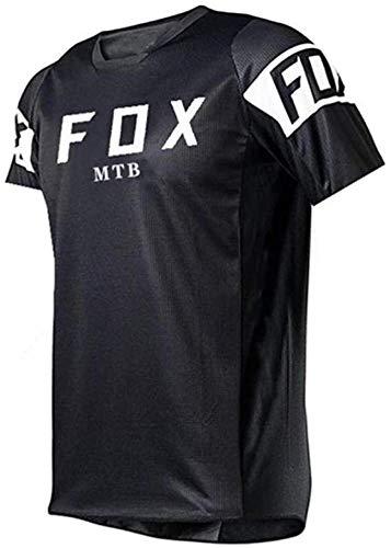 Jersey de Bicicleta de montaña de Manga Larga, MTB Jersey para Hombre Fox, Camisetas de Descenso para Hombre de Manga Corta MTB Fox Camisetas de Bicicleta de montaña Offroad Dh Jersey 5XL