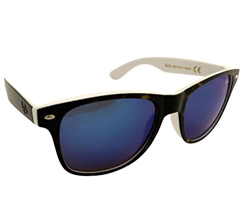 Dasoon Vision Gafas de Sol con Cristales de Espejo Marrones