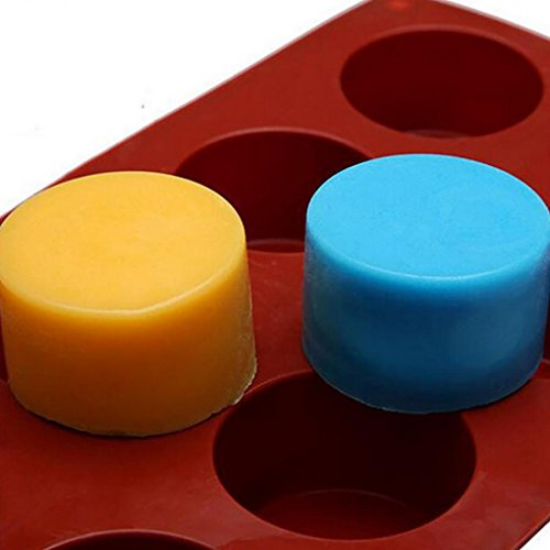 Anshinto Cake Mold Soap Mold Round Flexible Silicone Cookie Mould Candy Chocolate Mould for Dessert