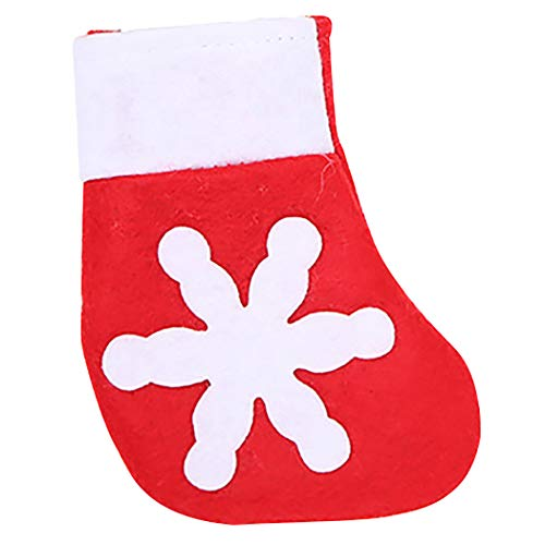 ZOYLINK Weihnachten Geschirrhalter Cute Snowflake Decor Besteck Pocket Xmas Table Decor