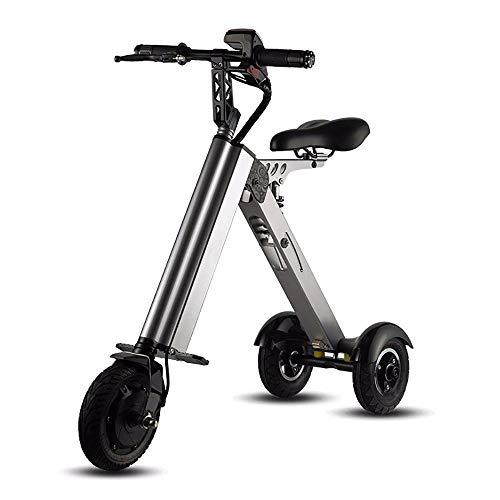 HSTD Bicicleta Eléctrica Plegable: Bicicleta de Montaña Eléctrica, Bicicleta Plegable Eléctrica de Ciudad con Frenos de Disco Doble Y Pantalla LED de Alta Definición, Velocidad de hasta 25 Km/H