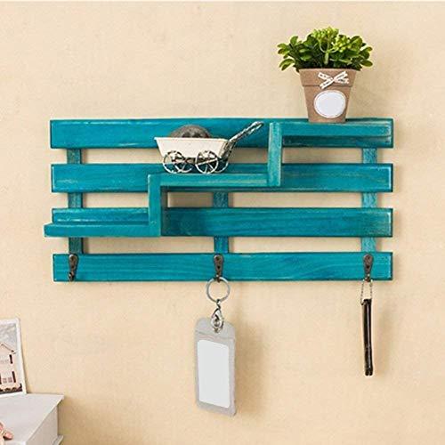 Perchero de pared con marco de madera de Nobrand, ideal para decorar la sala de estar, el dormitorio, perchero
