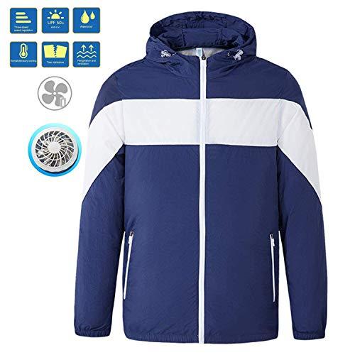 RENDONG Klimaanlage Kleidung Mit Kühlventilator Herren Outdoor Hohen Temperaturen Umgebungen Arbeitskleidung Verhindern Sunstroke Breathable Comfort Zipper Jacke,D,M