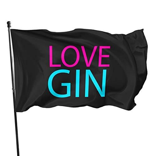 N/ Love Gin-Flagge, 91 x 152 cm