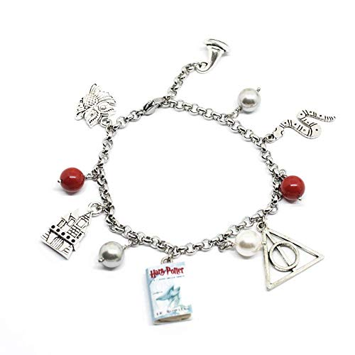 Bracciale Harry Potter Doni della Morte inspired con charms