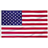 FLAGBURG American Flag 3x5 FT, Durable US 100% Polyester Flag, Print Vivid Color and UV Fade Resistant, Canvas Header and Double Stitched, USA Outdoors Indoors Flags with Brass Grommets