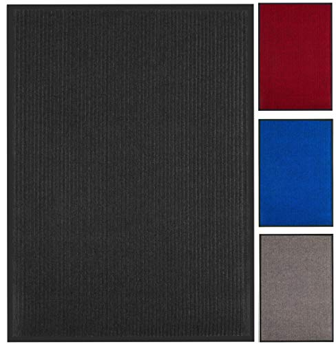 Zerbino da Ingresso Antisporco Nero - Grande 90 x 150 cm - Lavabile - Antiscivolo - Tappeto per Casa, Giardino, Ufficio