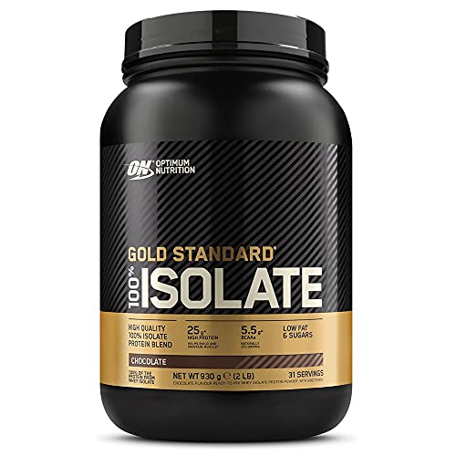 Optimum Nutrition ON Gold Standard 100% Isolate Whey Protein, High Protein Powder with Naturally Occurring BCAAs and Glutamine, Chocolate, 31 Servings, 930 g, Packaging May Vary