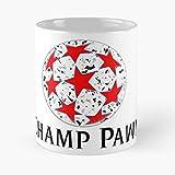 Euro Champ-Pawn League - Tazza da caffè in ceramica bianca, 11 oz 15 oz Que Je Personalise!