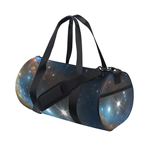 ZOMOY Sporttasche,Supernova Explosionsnebel,Neue Druckzylinder Sporttasche Fitness Taschen Reisetasche Gepäck Leinwand Handtasche