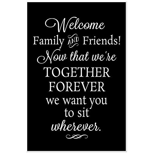 Wedding Welcome Family and Friends Wedding Seating Poster