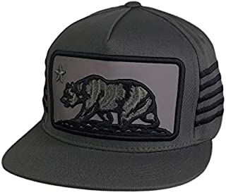 One Stop Outlet - California Bear Reflective Patch Snapback Baseball Hat