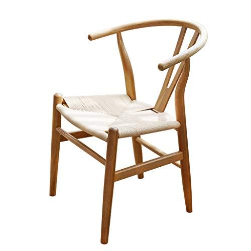 KEKOR Sillas para salón, silla de restaurante simple Y silla de hueso, silla para adultos, silla adecuada para cafetería, hotel, sala de estar, 55 x 56 x 74 cm (color: A)