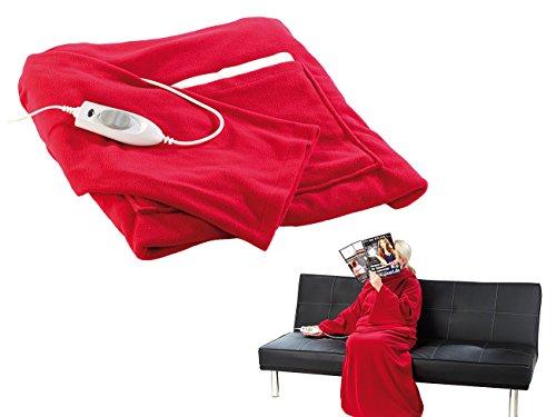 Wilson Gabor Kuscheldecke mit Heizung: Fleece-Kuschel-Heizdecke mit Ärmeln (Beheizbare Decke mit Ärmeln)