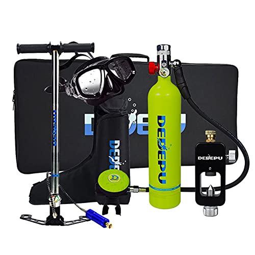 XSGDMN Tanques de Buceo, Conjunto de Tanques de oxígeno de Buceo 1L, Engranaje de Buceo para buceadores, Dispositivo de respiración bajo el Agua con Capacidad de Buceo de 20-25 Minutos