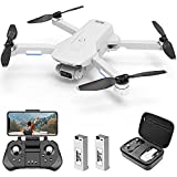 4DRC Foldable Drone with 4K Camera for Adults, 5Ghz FPV Live Video, GPS RC Quadcopter for beginners with Brushless Motor,2 Batteries,Auto Return Home, Follow Me, Carrying Case
