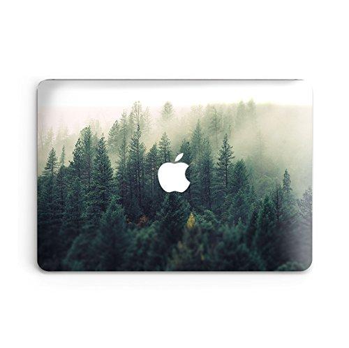GoodMoodCases - Carcasa rígida de plástico para MacBook Air de 13 Pulgadas (A1369 y A1466), diseño de Bosque neblinoso