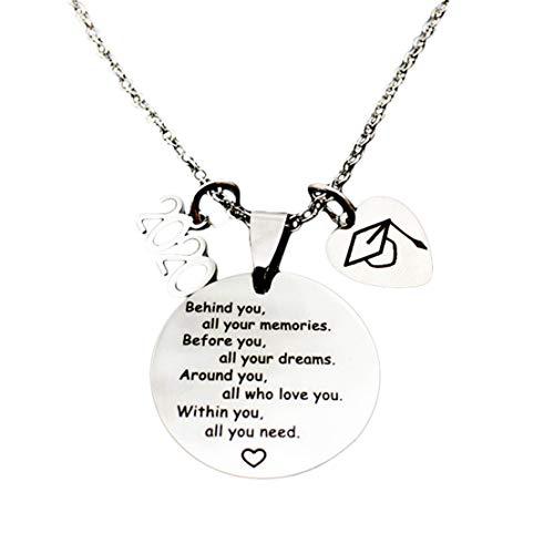 Kissherely Hinter Ihnen, All Ihre Erinnerungen Edelstahl Halskette Schmuck Halskette Männer und Frauen Accessoires 2020 Abschlussgeschenk
