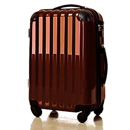 スーツケース 機内持ち込み可・超軽量・小型・Sサイズ ・キャリーバック 6202 アウトレット新品 (チョコレート)