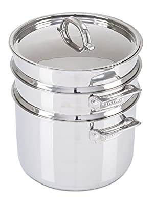 Viking 3-Ply Stainless Steel Pasta Pot with Steamer