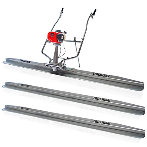TOMAHAWK Power Screed Concrete Finishing Tool with 12ft, 8ft, and 4ft Blades Bull Float Honda GX35