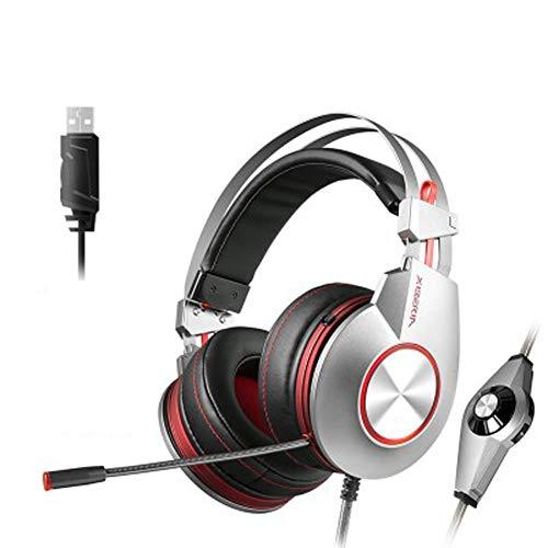 LXFTK Casque Gaming Headset Casque Gaming ComputerCasque antibruit stéréo