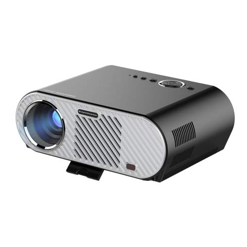Generic GP90 350LM 1280 * 800 HD Proyector LED HD Home Theater con mando a distancia, compatible con HDMI, VGA, AV, interfaces USB (negro)
