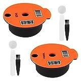 LOVIVER 2X Cápsulas de Café Reutilizables con Tapa Slicone para Bosch Tassimo 60 / 180ml