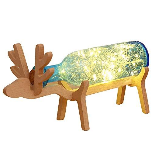 WJL houten LED-kristallen cartoon tafellamp kinder-/babyslaapkamer nachtkastje bedlampje hoofddecoratie verlichting, 5,00 watt, volt 110.00