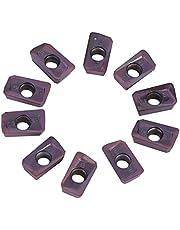 10 Piezas de Insertos de Carburo, Insertos CNC Hoja APMT1135PDER-M2 VP15TF Torno Herramienta de Torneado con Caja Para Materiales Blandos