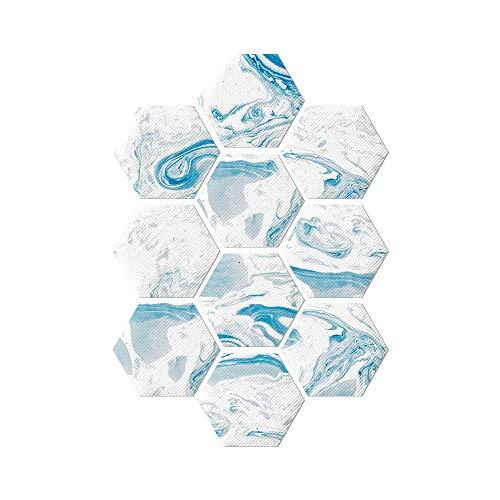 Calyvina Resistente al Agua Mármol Efecto de la baldosa Hexagonal Etiquetas Autoadhesivo despegar y Pegar Pegatinas de Pared para Entrepaños de Cocina Dormitorio baño, 30Pcs,C01