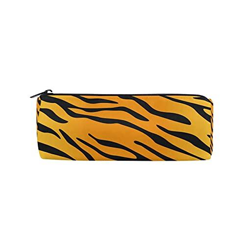 JNlover - Estuche para lápices con estampado de piel de tigre de animales para adolescentes, niños, oficina