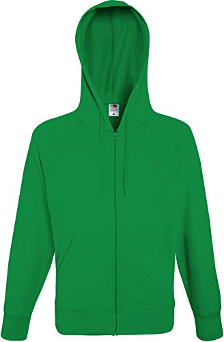 Fruit of the Loom: Lightweight Hooded Sweat Jacket 62-144-0, Größe:L;Farbe:Kelly Green