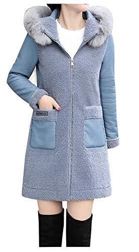 YUYUBAOER dames imitatiebont jas met capuchon Casual korte jas met bont kraag mode glamour vrouwelijke warme bont jas outdoor casual bont jas