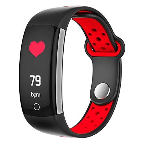 LLM Pulsera inteligente para mujer Q6 Bluetooth Smartwatch para hombre, monitor de presión arterial, reloj deportivo para Android IOS (A)