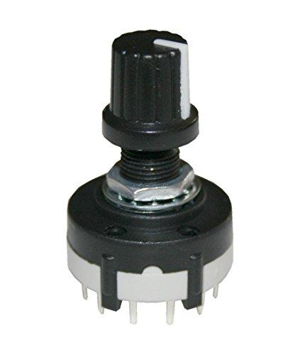 B2Q Drehschalter Stufenschalter Schalter 4Pole 3Stellungen AC 125V/350mA (0077)