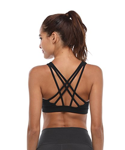 Women's Sports Bra Strappy Activewear Workout Racerback Yoga Bra