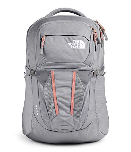 The North Face Women's Recon Backpack, Meld Grey Dark Heather/Pink Clay, One Size